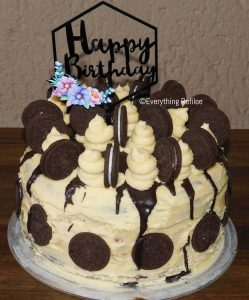 Birthday Chocolate & Vanilla Oreo Cake